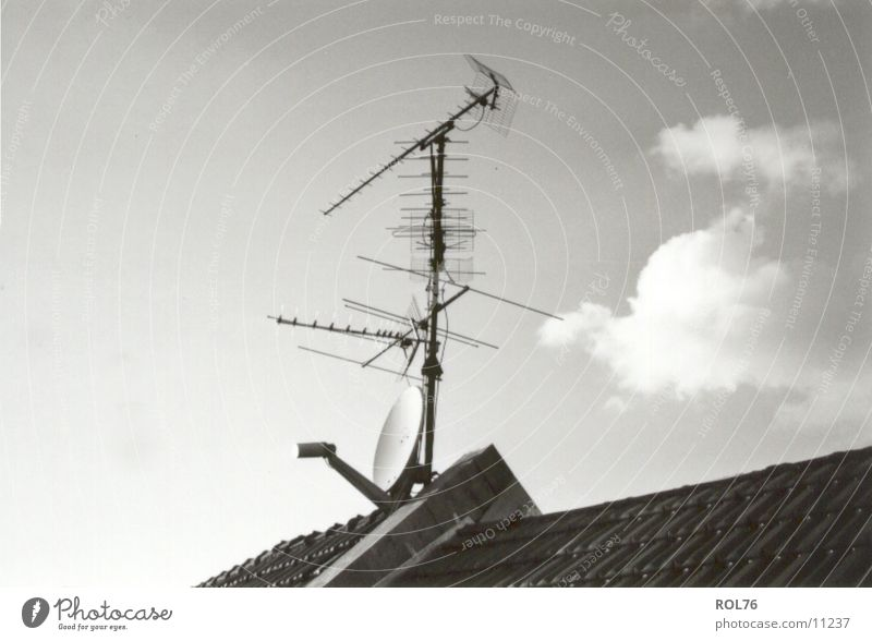 Sky Clouds Technology Roof Television Antenna Electrical equipment