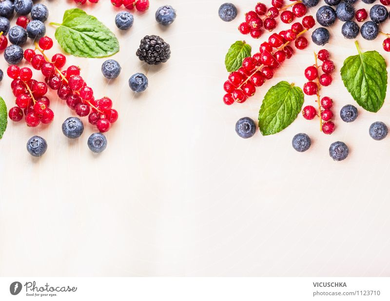 Garden summer berry on white table Food Fruit Nutrition Breakfast Organic produce Vegetarian diet Diet Juice Lifestyle Style Design Healthy Eating Summer Nature