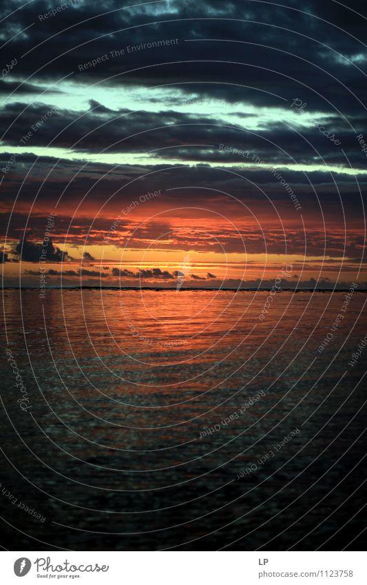 r1 Landscape Sky Clouds Horizon Ocean Illuminate Simple Far-off places Fluid Maritime Natural Blue Orange Silver Contentment Warm-heartedness Peaceful Serene