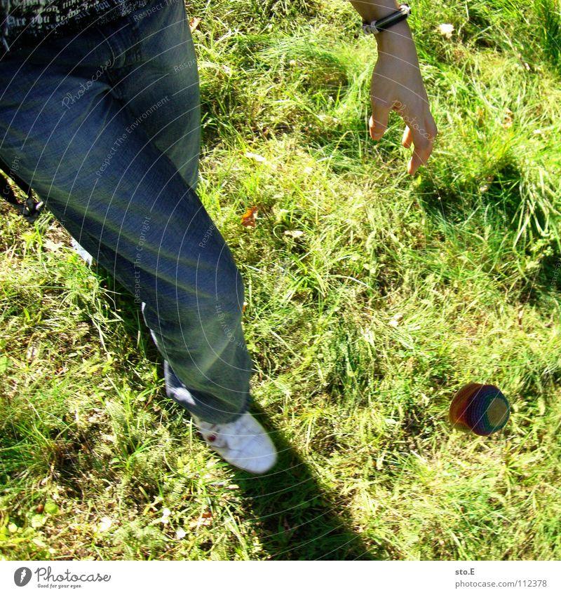 alternative sport pt.2 Hacky Sack Cloth Granulate Leisure and hobbies Meadow Wuhlheide Park Kick Playing Pants Funsport footbag Ball Feet filled Crocheted