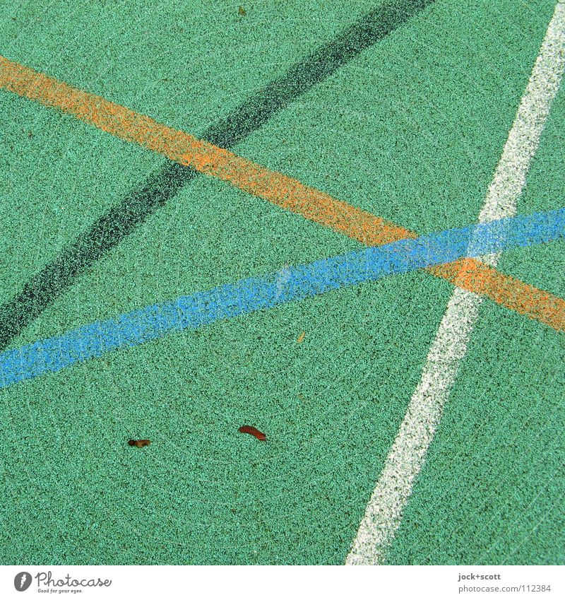 DJK Line Cross Playing field Meeting point Second-hand Line width Surface Floor covering Curve Ground Axle Arch Abstract Detail Structures and shapes