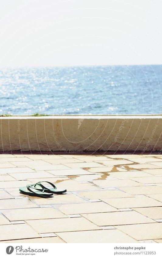 Vacation & Travel Summer Sun Ocean Coast Swimming & Bathing Stone Lifestyle Horizon Wet Beautiful weather Sunbathing Hot Summer vacation Mediterranean sea