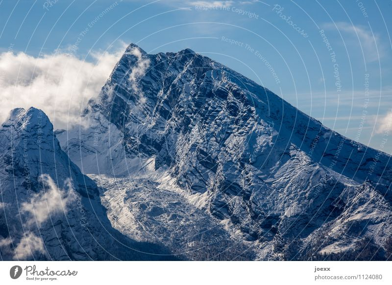 Sky Blue White Landscape Clouds Black Mountain Gray Tall Large Beautiful weather Peak Gigantic