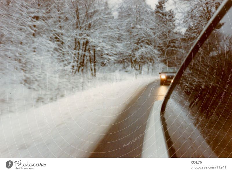 snowcars Winter Cold Light Forest Car Snow Ice Street Chase