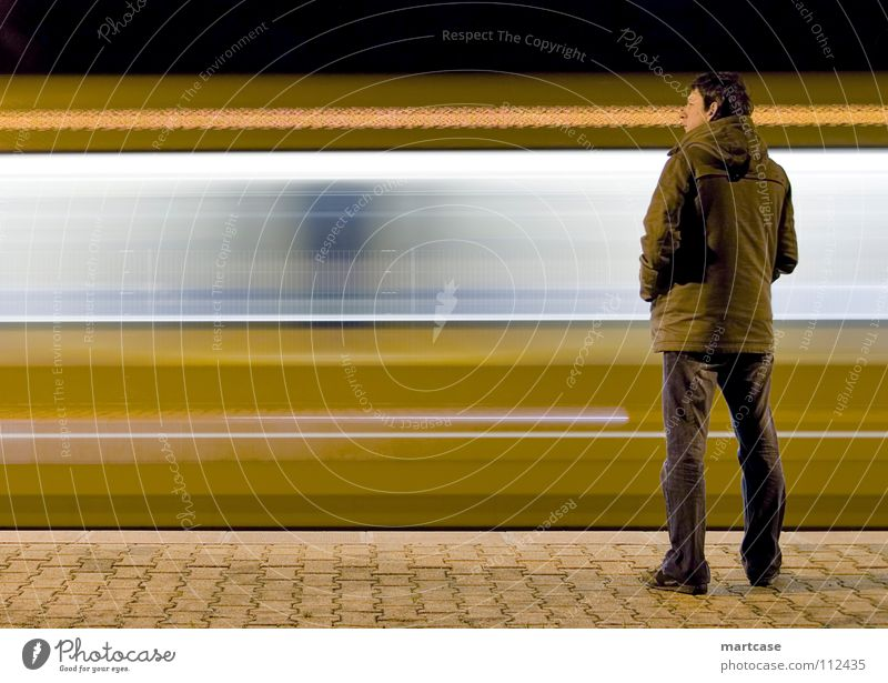 Time Wait Walking Transport Speed Railroad Stand Observe Public transit Discover Underground Station Boredom Train station Expectation Past