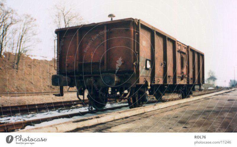 siding Steel Railroad tracks wagon Train station