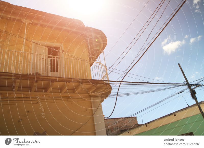 FF# Sunroof Art Adventure House (Residential Structure) Facade Summer vacation Summery Cuba Old town Vacation & Travel Vacation photo Vacation destination