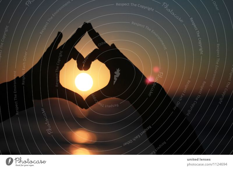 FF# Warmheart I Art Esthetic Contentment Sunset Sunlight Sunbeam Solar Power Sunbathing Heart Symbols and metaphors Love Display of affection Vacation & Travel