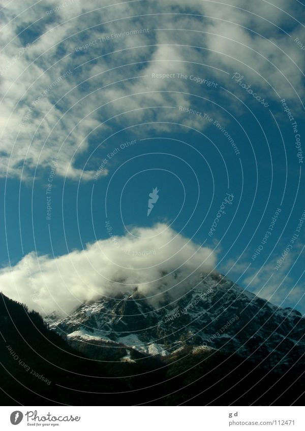 Sky White Blue Clouds Snow Mountain Movement Stone Rock Action Dynamics