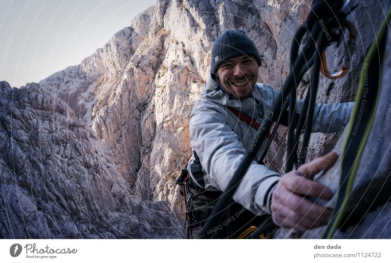 Stand! Climbing Expedition Mountain Sports Mountaineering Human being Masculine Young man Youth (Young adults) 1 30 - 45 years Adults Nature Landscape Winter