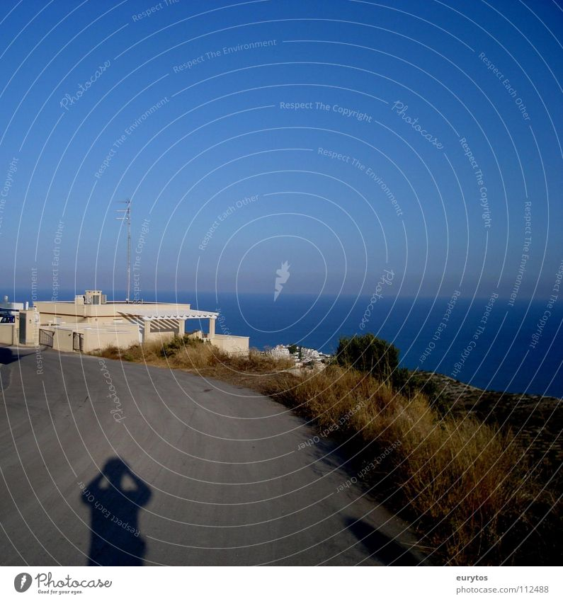 Sun in the back... Ocean Vacation & Travel Horizon Physics Asphalt Roadside Panorama (View) Spain Costa Blanca Sunbeam House (Residential Structure) Peninsula