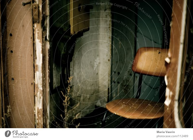 Old Calm Loneliness Relaxation Dirty Wet Gloomy Chair Broken Transience Derelict Seating Bolster Comfortless