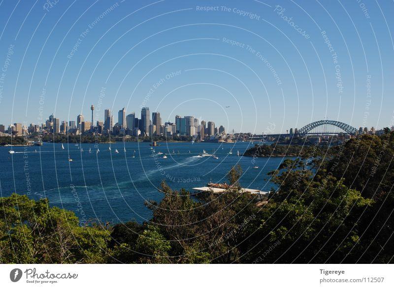 Skyline of Sydney Harbour Bridge Ocean Town Opera house Landscape
