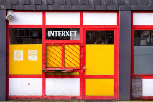 The New Media Computer Technology Entertainment electronics Advancement Future Telecommunications Internet Email marl Town Building internet shop Window Old