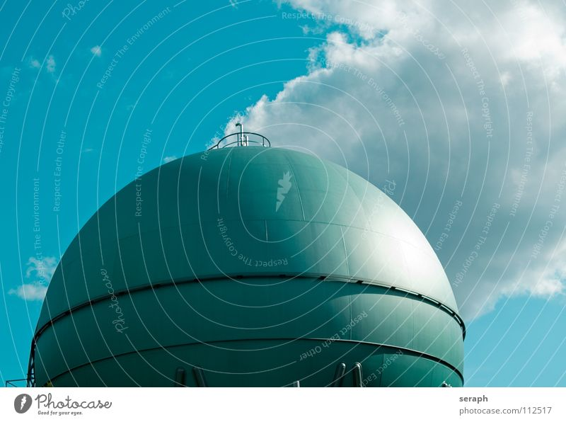 Gas Sphere Gas tank Industry Provision Manmade structures Storehouse liquefied gas Energy Energy industry Save energy Energy crisis Architecture Construction