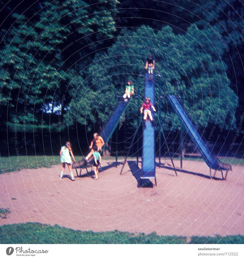 Child Old Joy Life Park Speed Retro Scream Downward Playground Slide The eighties
