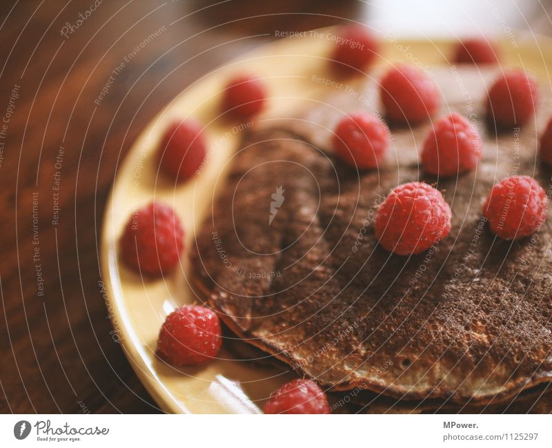 egg cake Food Nutrition Eating Breakfast Vegetarian diet Good Pancake Raspberry Delicious Healthy Healthy Eating Sweet Colour photo Close-up Baking