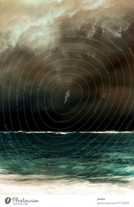 Water Sky Ocean Beach Vacation & Travel Clouds Dark Lake Rain Waves Coast Fear Weather Island Threat Climate