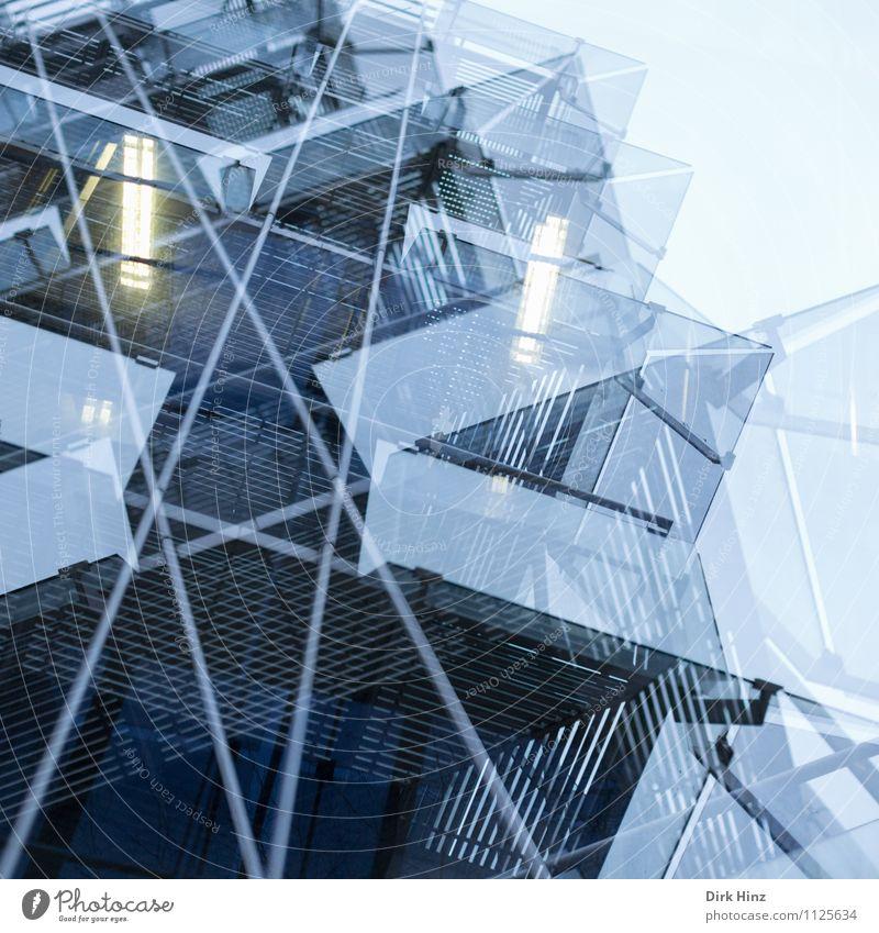 Beam me Up! Financial institution Business Advancement Future High-tech Art Town Industrial plant Architecture Facade Blue Esthetic Bizarre Design Uniqueness