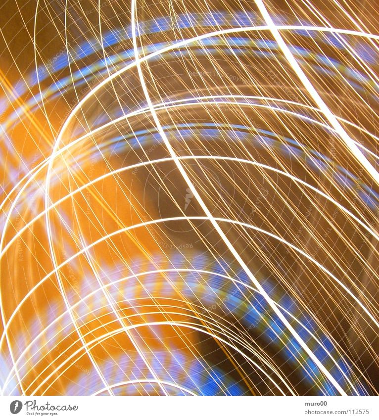 drunk at the Oktoberfest Tracer path Light Ochre Yellow Circle Long exposure Hartberg Blue ellipses