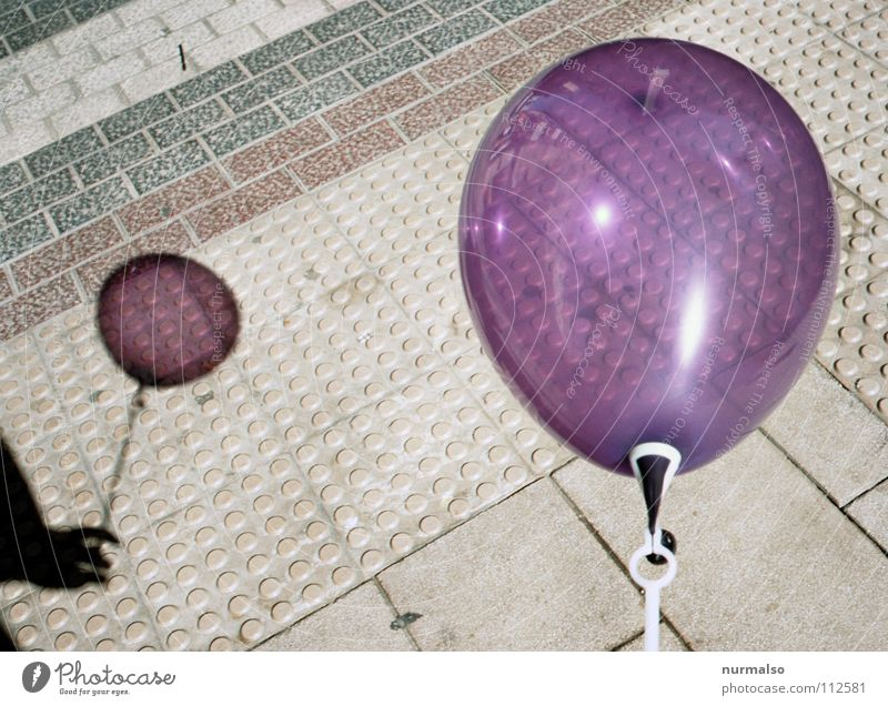Hand Beautiful Joy Air Infancy Feasts & Celebrations Broken Round Balloon Transience Point Simple To hold on Birthday Violet Toys