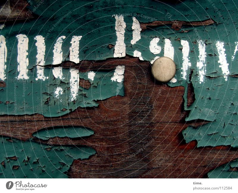 Old White Green Colour Wood Brown Weather Signs and labeling Transience Derelict Wooden board Nostalgia Crack & Rip & Tear Forget Varnish Climate change