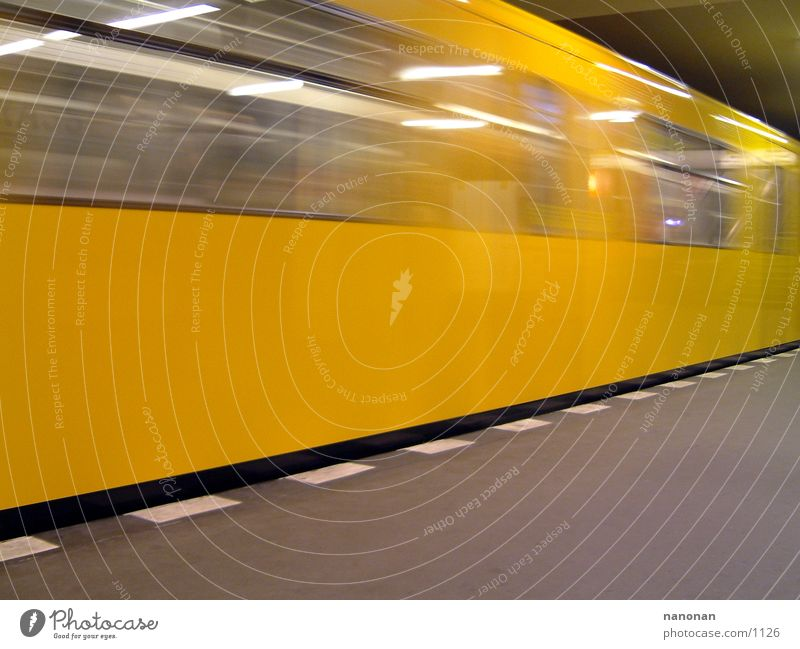 Yellow Berlin Transport Underground Berlin public transportation services