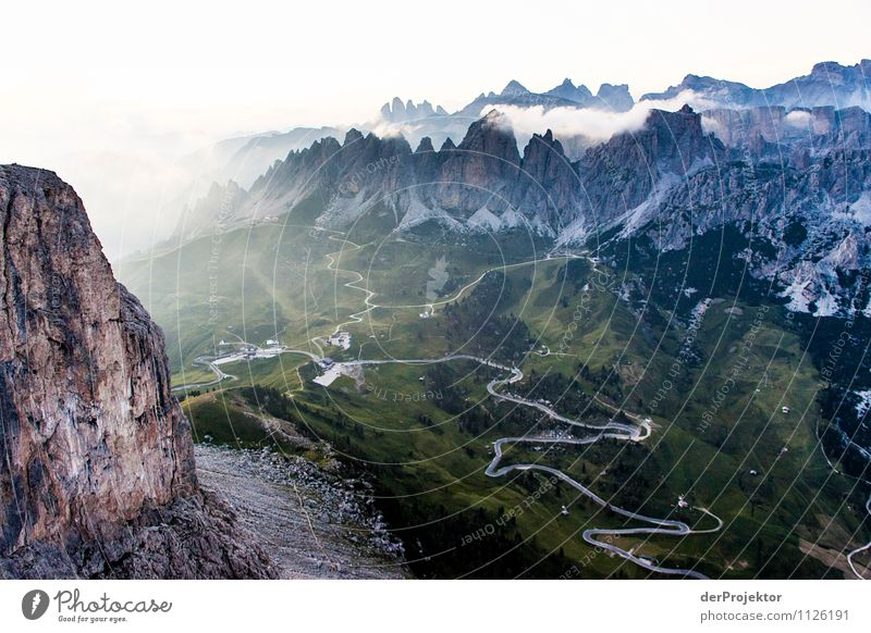 Sunset in the Dolomites Vacation & Travel Tourism Adventure Far-off places Freedom Summer vacation Mountain Hiking Environment Nature Landscape Plant Elements