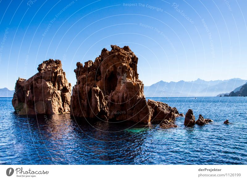 Rugged coast in the blue sea Vacation & Travel Tourism Trip Adventure Far-off places Freedom Sightseeing Cruise Summer vacation Sunbathing Environment Nature