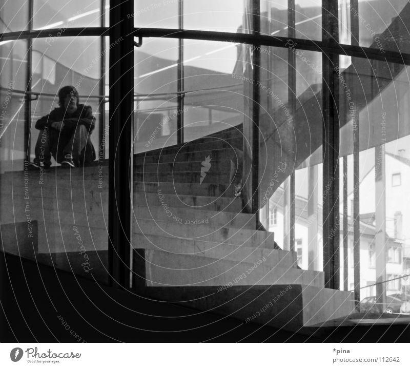 Window Think Room Wait Glass Sit Hope Stairs Future Break Desire Past Past Window pane