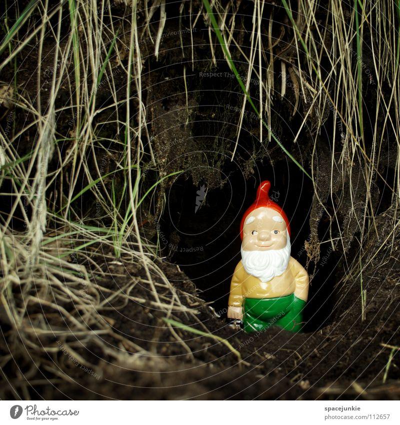 Joy Garden Kitsch Village Whimsical Home country Cave Dwarf Petit bourgeois Garden gnome Garden plot Santa Claus hat Burrow
