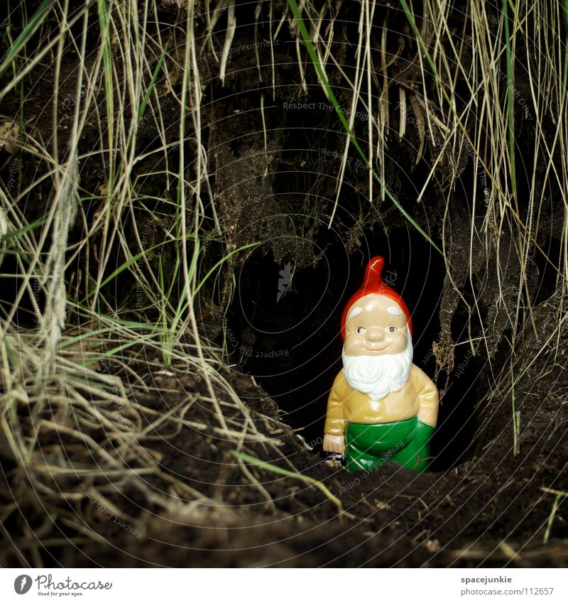 Joy Garden Kitsch Village Whimsical Home country Cave Dwarf Petit bourgeois Garden gnome Garden plot Santa Claus hat Burrow