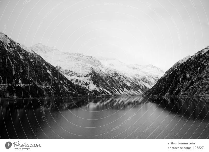Reservoir in the Zillertal in winter Leisure and hobbies Fishing (Angle) Vacation & Travel Tourism Trip Winter Snow Winter vacation Mountain