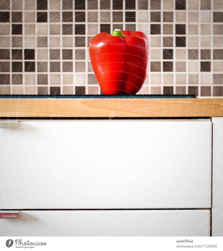 KitchenStories_Vegetables Food Pepper Organic produce Life Living or residing Flat (apartment) House (Residential Structure) Tile kitchenette worktop Wood Brown