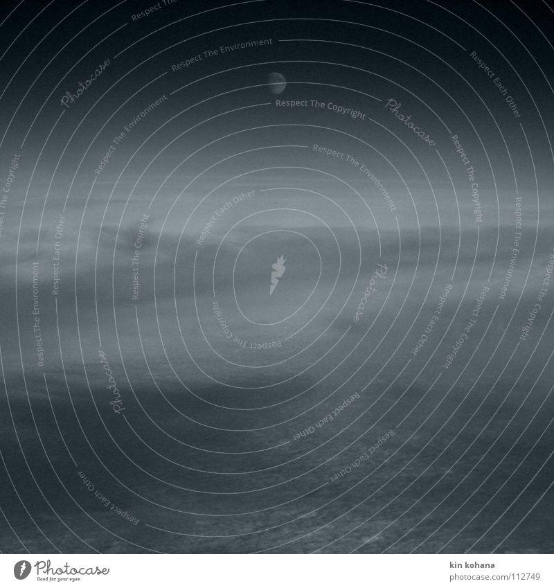 Sky Ocean Blue Clouds Far-off places Dark Glittering Fog Horizon Aviation Peace Transience Infinity Universe Moon Planet