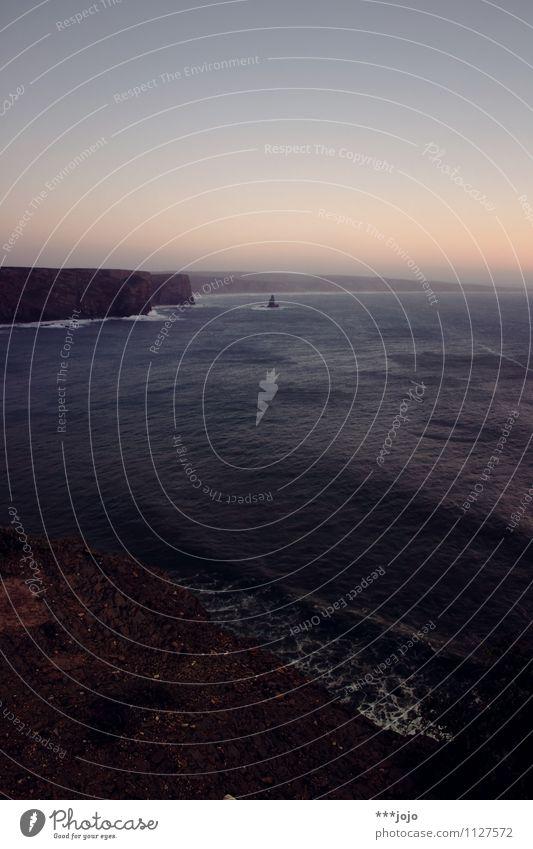 atlanticism. Landscape Rock Coast Beach Bay Reef Ocean Atlantic Ocean Vacation & Travel Portugal Algarve Surf Loneliness Rocky coastline Cliff Ledge Sparse