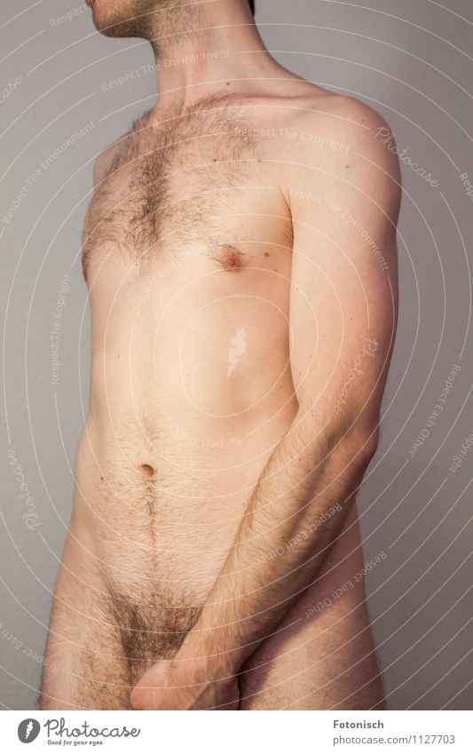 MALE Human being Masculine Young man Youth (Young adults) Chest Stomach Upper body Pubic area 1 18 - 30 years Adults Hairy chest Pubic hair Stand Esthetic