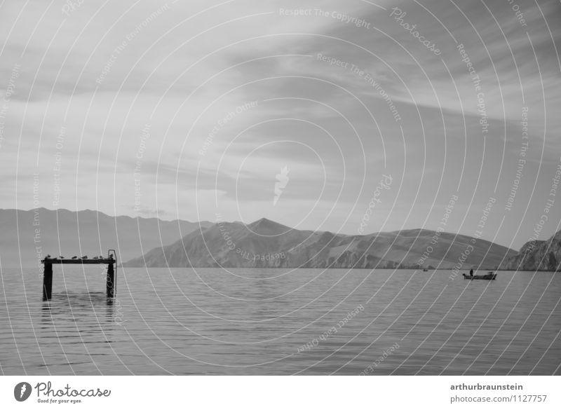 Human being Sky Nature Vacation & Travel Man Summer Water Sun Ocean Landscape Calm Clouds Adults Freedom Bird Masculine