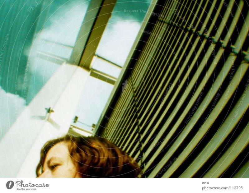 bZw Fisheye Office building Dresden Venetian blinds Clouds University of Darmstadt Under October Facade Air Vaulting Reflection Duplicate Education