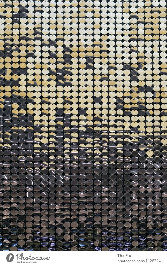 Glittering Performance Design Sequin Metal Ornament Esthetic Elegant Round Gold Gray Silver Colour Luxury Eroticism Surrealism Symmetry Reflector Reflection