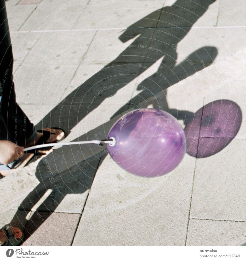 Child Beautiful Summer Joy Playing Air Balloon Simple Violet Toys Fairs & Carnivals Transparent Loud Pressure Inflated Helium