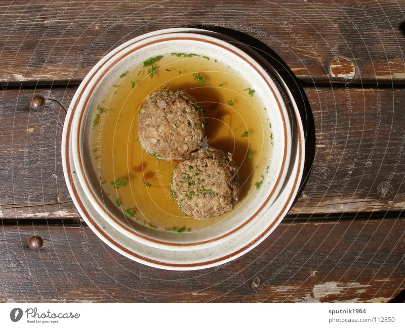 Bread roll soups Soup Austria Delicious Tradition Bavaria Plate Table Nutrition