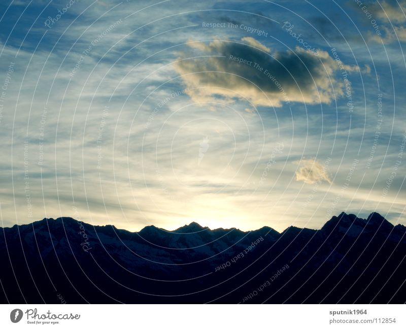 alpine sky Clouds South Tyrol Mountain Sky Evening Sun Alps Sunset