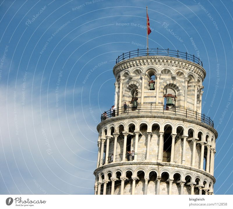 Pisa study Italy Europe Campanile Exterior shot Sky Historic Landmark Monument Blue Tower PISA study Far-off places Old Past architecture history Tilt