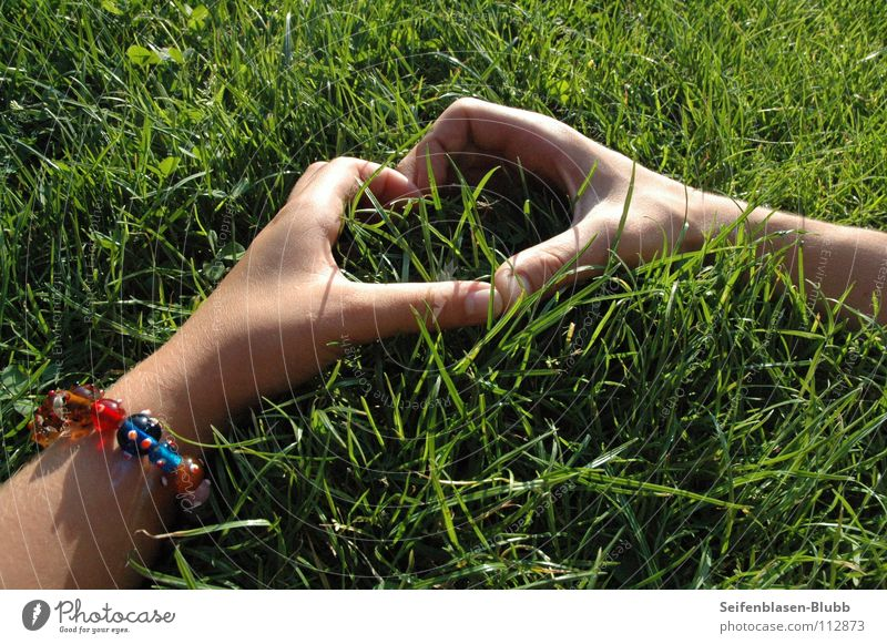 Woman Man Green Love Life Meadow Grass Park Bright Together Heart Large Crazy Multicoloured Trust Bracelet