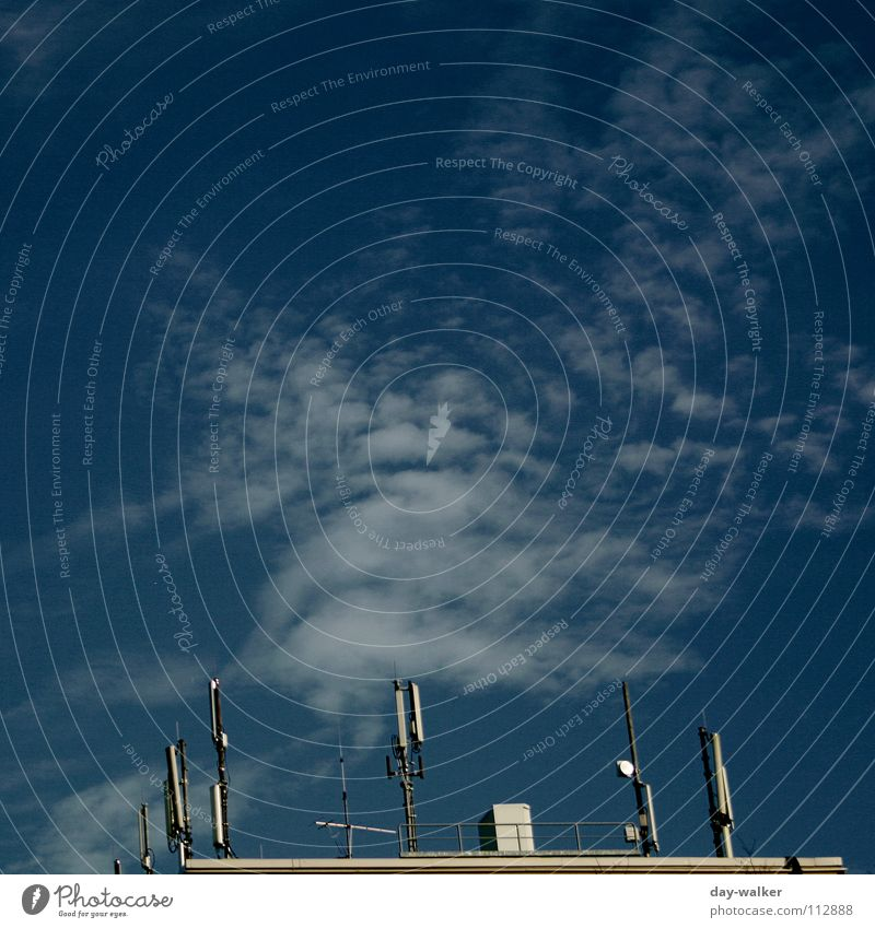The Hand of God Antenna Clouds Roof Broacaster Brown House (Residential Structure) Planning Impression Reaction Sky Blue Colour Signal Phenomenon Deception