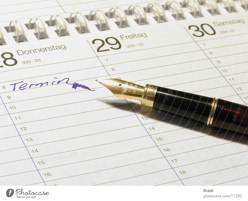 DATE Date Writing utensil Ballpoint pen Fountain pen Ink Calendar Write Feather Digits and numbers Business