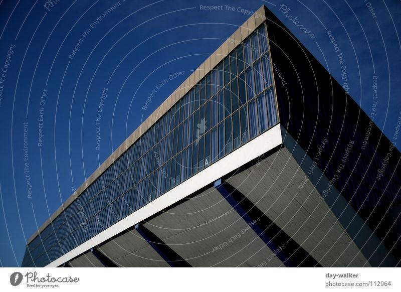 Sky Blue Window Glass Concrete Concert Trade fair Warehouse Exposure Exhibition