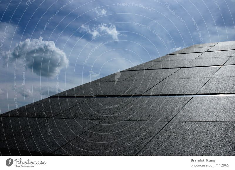 Sky Clouds Gray Concrete Horizon Asphalt Stupid Pyramid