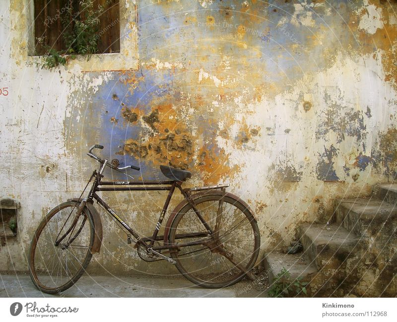 Old Colour Wall (building) Window Bicycle Facade Stairs Rust India Vintage Decompose Asia
